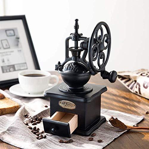 ZWWZ Máquina de café Molinillo de café Vintage Mano de café Grano de café Molinillo de Ferris Manual portátil Máquina de café Machine Machine 11.3 * 11.4 * 24cm (Color: Negro) MISU (Color : Black)