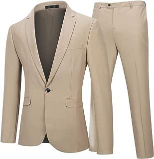 YFFUSHI Mens Slim Fit 2 Piece Suits One Button Multi-Color Wedding Party Tuxedo