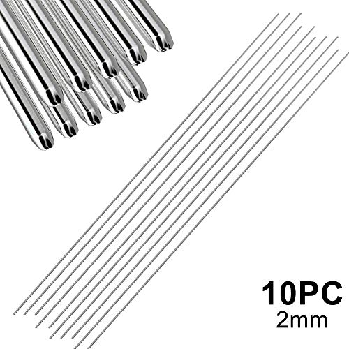 Liamostee Barras de Soldadura de Aluminio fáciles de Baja Temperatura 5 10 20 50Pcs 1.6mm 2mm No Necesita Polvo de Soldadura