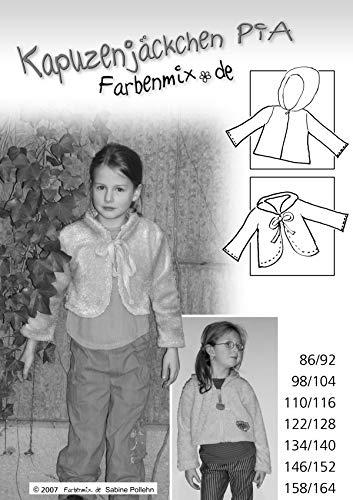 Farbenmix Pia Schnittmuster (Papierschnittmuster für die Größen 86/92-158/164)