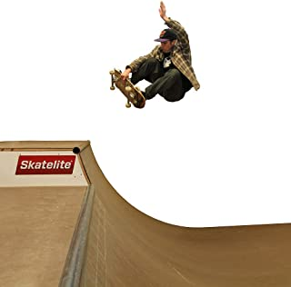 Traceable 4 Foot Tall Halfpipe Skateboard Ramp Template – Full Size CNC Drawn Pattern with Instruction Booklet, Coping Blocks and Skatelite Sample