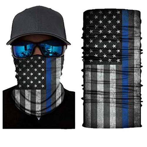 Van & Company Thin Blue Line Face Mask, One Size