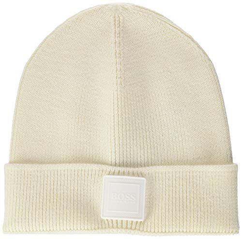 BOSS Mens Foxxy Beanie Hat, Natural (102), ONESI