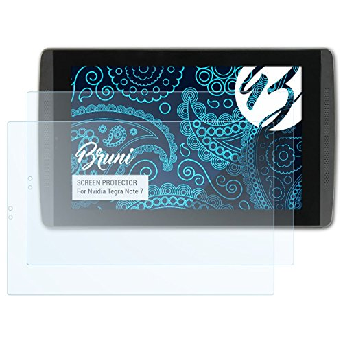 Bruni Schutzfolie kompatibel mit Nvidia Tegra Note 7 Folie, glasklare Displayschutzfolie (2X)