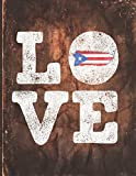 Love: Puerto Rico Flag Cute Personalized Gift for Puerto Rican Boricua Friend  2020 Calendar Daily Weekly Monthly Planner Organizer