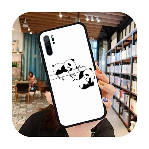 Caja del teléfono del panda de dibujos animados lindo para Huawei P9 P10 P20 P30 Pro Lite Smart Mate 10 Lite 20 Y5 Y6 Y7 2018 2019-a13-Huawei Mate20lite