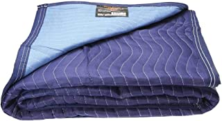 Mega Mover Heavy-Duty Moving Blanket   7 pounds each (85 pounds per dozen)   72 inch x 80 inch   Blue Furniture Pad   1 Blanket