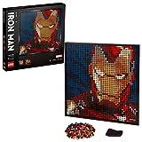 LEGO 31199 Art Marvel Studios Iron Man Póster de coleccionista DIY, Decoración de Pared, Imagen Personalizable, Set de...