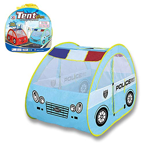 Ydq Kids Play Tent, Police Car Houses Toy, Playhouse   Ball Pit   Den for Indoor Outdoor Garden for Children Camping Picnic Travel