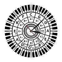 壁掛け時計ピアノキー壁掛け時計ミュージシャン五度圏音楽ハーモニー理論音楽研究作曲家教室壁の装飾モダンウォールウォッチ
