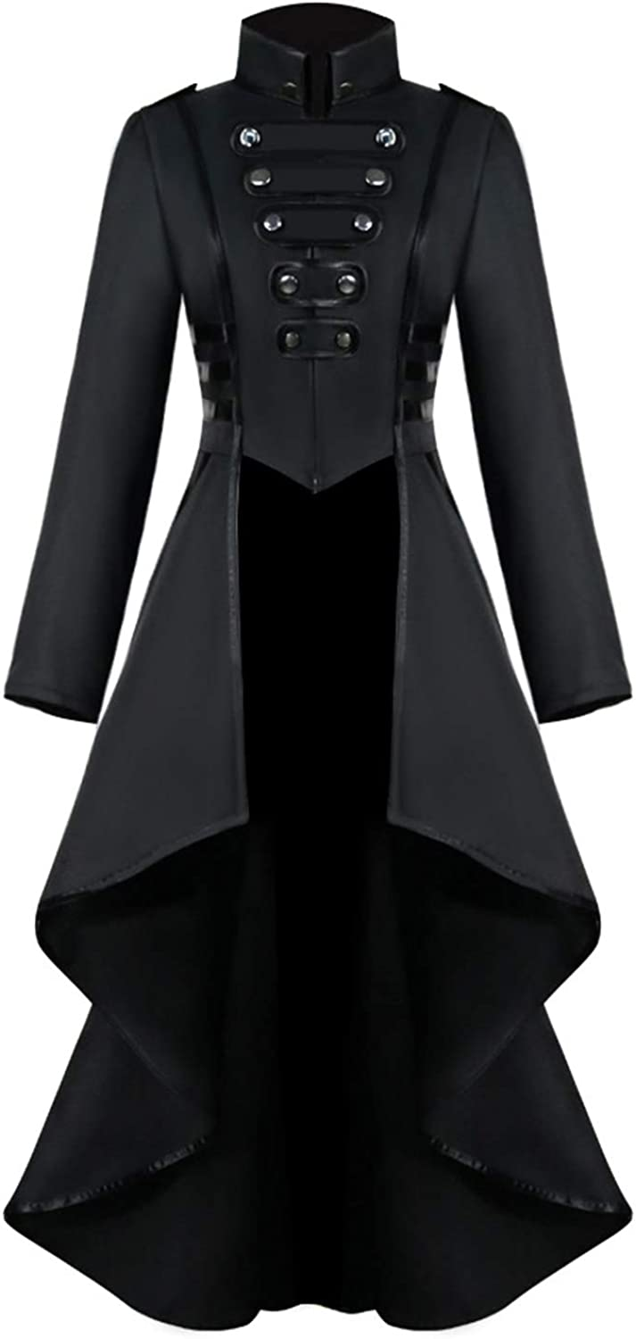 Medieval Steampunk Limited time Gifts for free shipping Jacket Vintage Women Halloween Costumes
