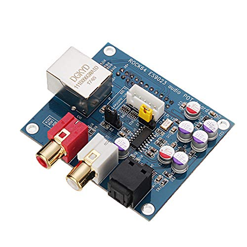 ILS - Rock64 Stereo-Audio-Receiver-Modul-Brett für ESS ES9023 Sabre DAC HiFi Sound Quality
