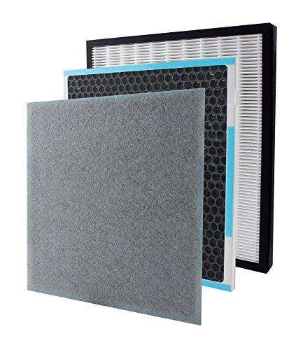 InvisiClean True HEPA/Activated Carbon Replacement Filter - Compatible Aura IC-5018 and Sensa IC-5120 Air Purifiers