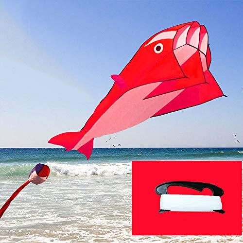 ZCFXGHH Grote Mand Gekleurde Walvis Kite, Eenvoudige Kite Software Geschikt voor Kinderen Outdoor Sport -100/400/700 Meter Kite Touw 200 * 100Cm (78.74 * 39.37In)