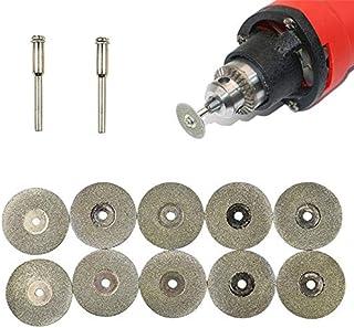 YUQIYU 16-60mm Mini Diamond Saw Blade kapskivor Shank FÖR FOR Dremel Borra Fit roterande verktyget 10 x hartsskärnings Ski...
