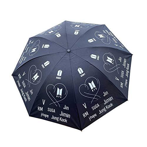 Kingmia Regenschirm, KPOP Bangtan JungenTaschenschirm Automatik Prmie Leicht, Winddicht Gro Regenschirm()