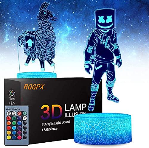 Regalo para niños de 8 años Battle Royale 3D noche luz lámpara de noche 16 color cambiante Navidad Halloween regalo de cumpleaños para niño bebé niño