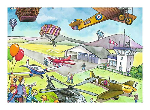 JCXOZ Beautiful Original Artwork Jigsaw Puzzle - Vivid And Interesting Flight Show Wooden Puzzles (300/500/1000 Pieces, Great Gift for Girls and Boys - Best for 3, 4, and 5 Year Olds)