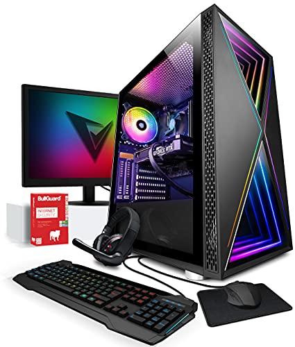 Vibox VII-24 PC Gamer - 24' 144Hz Écran Pack Incurvé - 6-Core Ryzen 5 5600X Processeur - Nvidia RTX 3070 8Go Carte Graphique - 16Go RAM - 1To NVMe M.2 SSD - Windows 10 - WiFi