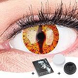 Farbige Feurige Dragon Drachen Kontaktlinsen Ohne Stärke mit Gratis Kontaktlinsenbehälter