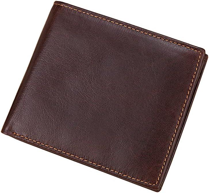 Dacomfy Men Wallet Leather Rfid Blocking, Men Wallets Coin Pocket Card Holder Flip Bifold Wallet Slim Minimalist