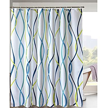 LanMeng Elegance Luxury Bathroom Shower Curtain Waterproof and Mildewproof Polyester Fabric (72-by-72 inches, 5) by LanMeng