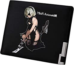 Gumstyle NieR:Automata Game Artificial Leather Wallet Billfold Money Clip Bifold Card Holder