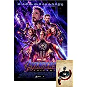 """Avengers Endgame Movie Poster 24""""X36"""" (with 2019 X-arnet """"We Are The People 11x17"""" Print) - These are Certified Poster Office Prints with Sequential Holographic Numbering for Authenticity."""