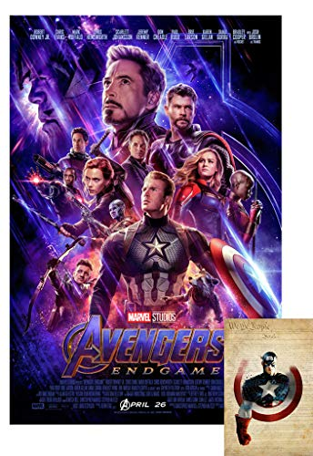 Avengers Endgame Movie Poster 24'X36' (with Bonus 2019 X-arnet We are The People 11x17 Print) - These are Certified Poster Office Prints with Sequential Holographic Numbering for Authenticity.