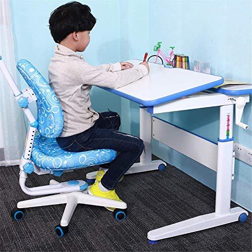Escritorio para niños y silla de silla Estudio para niños Mesas y sillas Multifunción Escuela Estudiantes Mesas y sillas para adaptarse a la escritura de dibujos para niños Niñas Niñas Amigos Amigos F