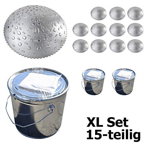 TMS Pro Shop Tempostopper-Set L, 7 Kölner Teller aus Aluguss 30 cm Ø und 2-Komponenten-Kleber