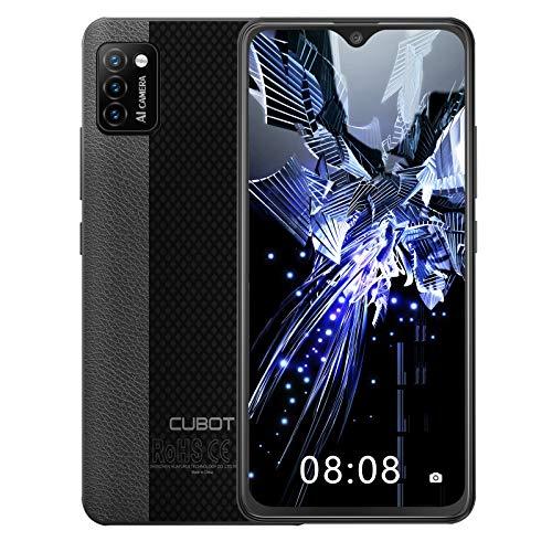 CUBOT Note 7 Smartphone ohne Vertrag, 4G Handy, 5.5 Zoll HD Display, Android 10, 3100mAh Akku, 3 Kameras, 2GB/16GB, 128GB erweitbar, Dual SIM, Face ID, Schwarz