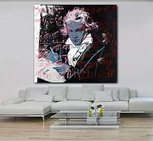 Beethoven Von Andy Warhol Moderne Wohnkultur Bilder Für Wohnzimmer Hd Leinwand Malerei Schlafzimmer Poster 50 * 50 cm Ohne Rahmen
