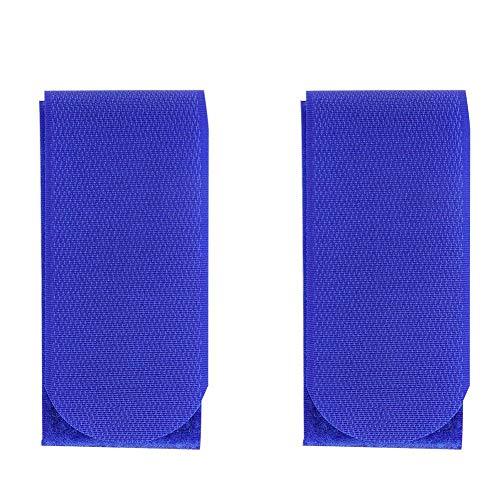 Delaman Skigurte Skiträger Haken Nylon Bänder Snowboard Bag Carrier zum Schutz Ihrer Skier im Transport 2 Stück, blau