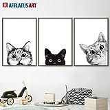 Drucken auf Leinwand-schwarz und weiß siamesische Ragdoll Katze leinwand wandkunst druckkunst wandbild Cuadros Kunstwerk gedruckt auf malerei wohnkultur wohnzimmerFrameless...