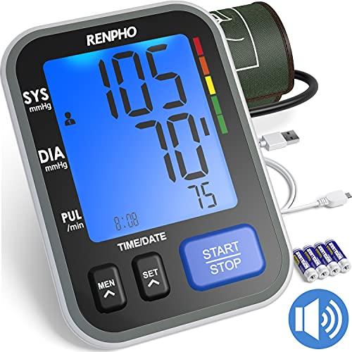 Tensiómetros de brazo, RENPHO Monitor de Presión Arterial para uso Doméstico con...