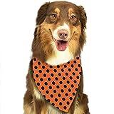 hgdfhfgd Manchas Negras Bufanda para Mascotas Pañuelos para Perros Baberos Triángulo Cabeza Bufandas