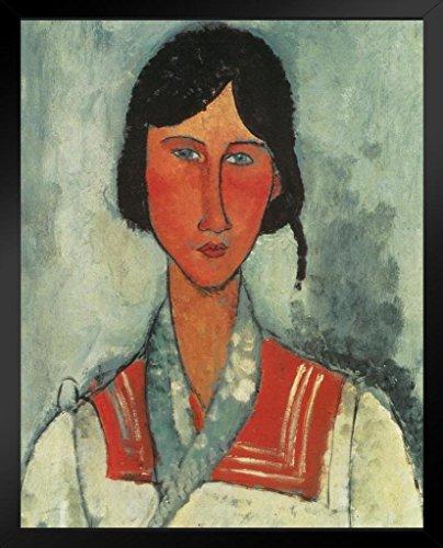 Amedeo Modigliani Gypsy Woman with Baby Black Wood Framed Art Poster 14x20
