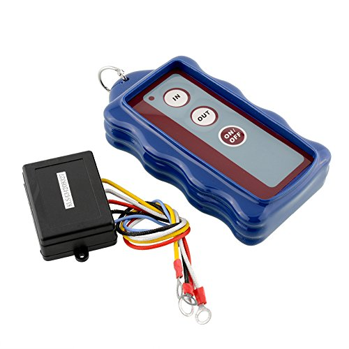 Sedeta® OEM Blue 12V DC 50ft Waterproof Wireless Remote Control Kit for Car Truck Jeep ATV Vehicle Winch 50FT Auto Accessories