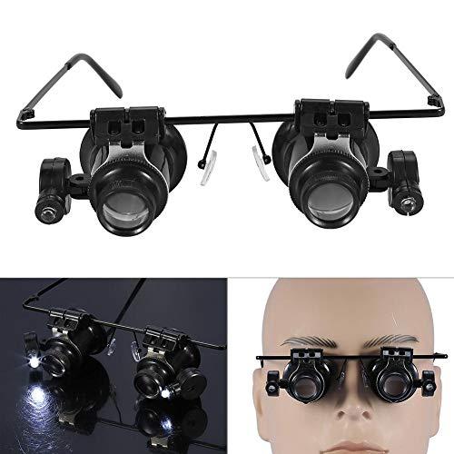 20 x hoofdband vergrootglas loep juwelier gereedschap horloge reparatie LED licht lensklok reparatie vergrootglas kopbevestiging vergrootglas met verwisselbare lenzen