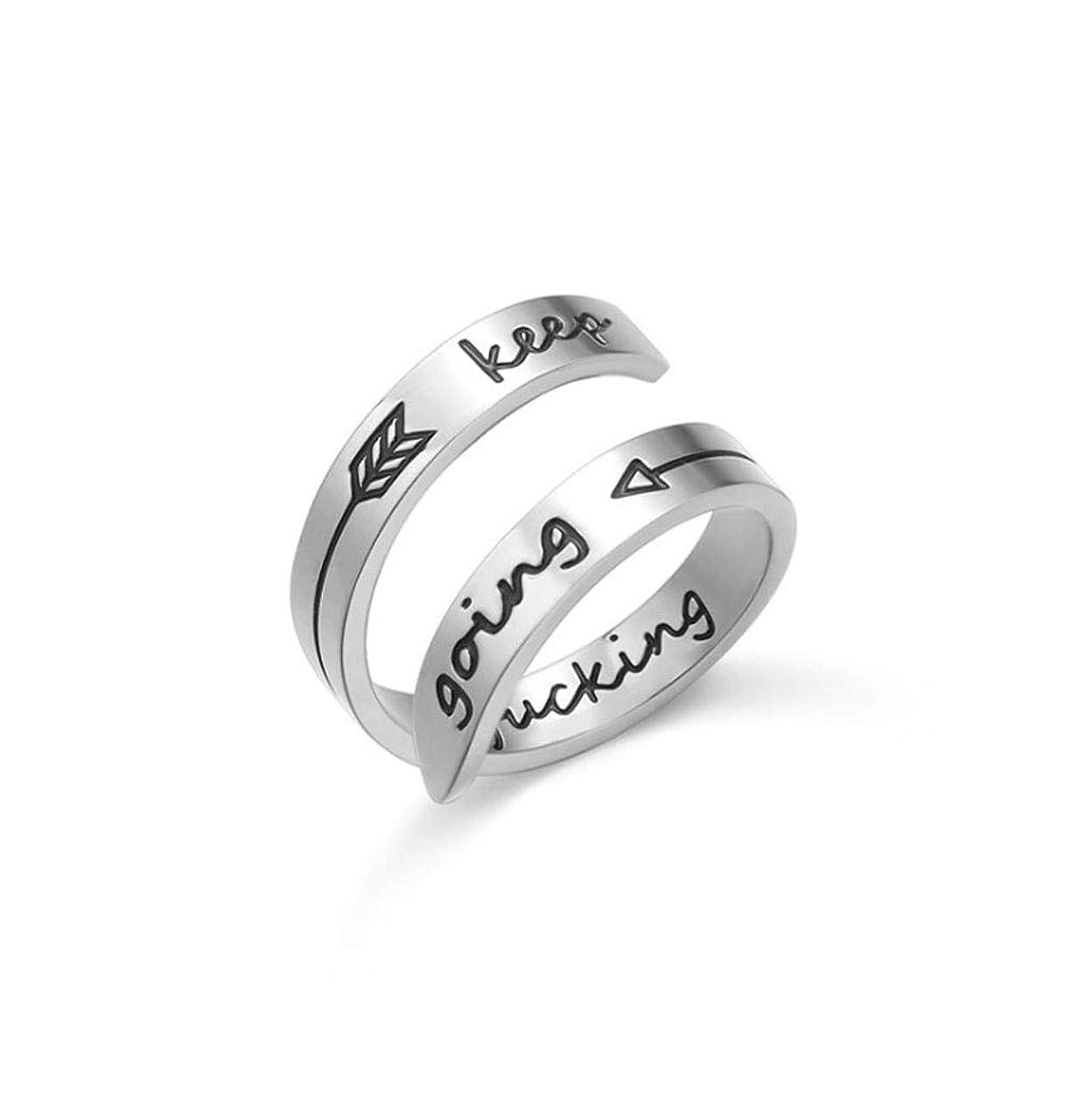 補足熟読ビヨン二層316Lチタン鋼リング、男性と女性のためのステンレス製の彫刻サイズ調節可能なリング (Color : Silver)
