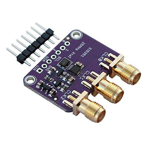 SNOWINSPRING Si5351A I2C 25Mhz Tablero del Desbloqueo del Generador de Reloj 8Khz a 160Mhz para D9I2