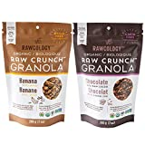 Rawcology | 2 Pack Banana Chocolate Granola | Sin azúcares añadidos, sin gluten, sin lactosa, raw, vegana, paleo