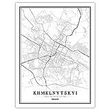 Lonfenner Leinwand Bild,Städte Der Ukraine Abstrakte Farbe