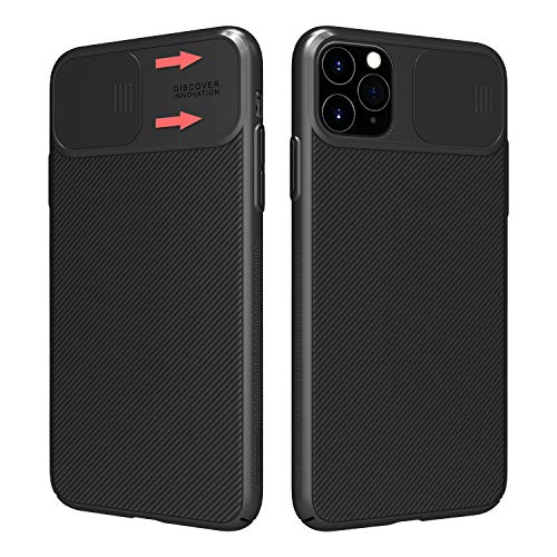 Nillkin iPhone 11 Pro max Case - Upgrate Slim CamShield Case with Slide Camera Cover for iPhone 11 Pro max 6.5 inch(2019), Black