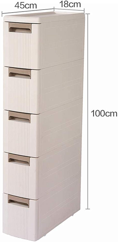 CCF Bathroom Shelf Landing Bathroom Storage Box Sandwich Storage WC Toilet Side Cabinet Side Cabinet CCFSF (Size   45  18  100CM)