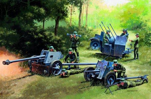 Italeri FBA_8001283070263 510007026 - 1:72 German Guns Set: PAK35-PAK40-FLAK38