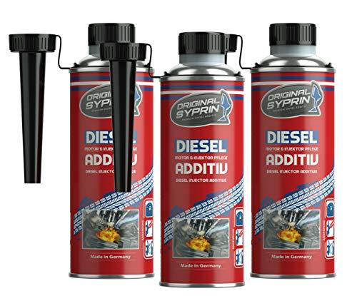 SYPRIN Diesel gasóleo aditivo para Motores Diesel Diesel Sistema inyectores Diesel Extractor de inyector diésel de additive Combustible additivo Limpiador 3X 250ml