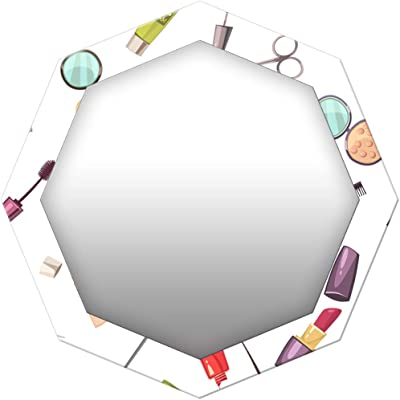 999Store Printed Makeup keat Pattern Octagon Mirror (MDF_17X17 Inch_Multi)