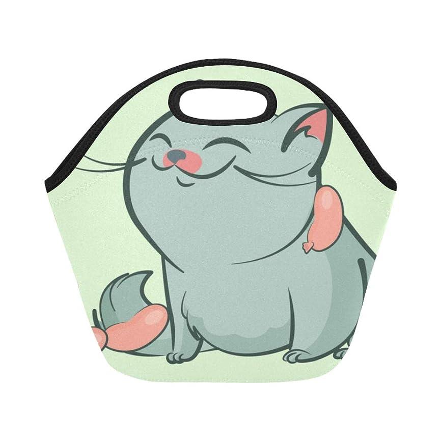 願うニックネーム予防接種XHQZJ ランチバッグ 太い猫 弁当袋 お弁当入れ 保温保冷 トート 弁当バッグ 大容量 トートバッグ